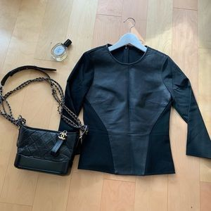 Tibi leather and cotton top, cool girl style